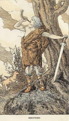 Siegfried and the Twilight of the Gods by Richard Wagner, illustrated by Arthur Rackham Arthur Rackham, Richard Wagner, Viking Culture, Norse Vikings, Asatru, Viking Age, Norse Mythology, Gods And Goddesses, Archetypes