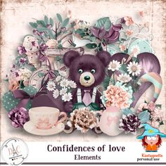 Cofidences of love Pack Elements by Kastagnette [kasta_Confidences of love] - Packs Papier, Packing, Love, Bag Packaging, Amor