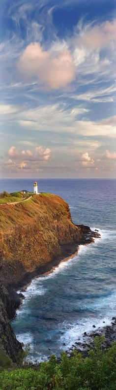 Hawaii, Kauai, Kilauea Point Lighthouse at Kilauea National Wildlife Refuge. I have a closer shot of this. Such a beautiful place! Beautiful Places To Visit, Oh The Places You'll Go, Kilauea Lighthouse, Aloha Hawaii, Hawaii Travel, Rio, Taj Mahal, Hawaiian Islands, Vacation Spots