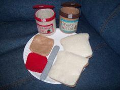 PBJ felt food set by RayOfSunshineShop on Etsy