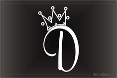 Letter M Discover Crown Letter D Initial Decal Crown Decals & Stickers Monogram Wallpaper, Alphabet Wallpaper, King Of Hearts Tattoo, Letter D Tattoo, Lettering Design, Hand Lettering, D Letter Design, Wall Letter Decals, Vinyl Decals