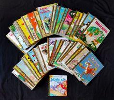 Lot-of-40-Little-Golden-Books-Many-Vintage-70s-80s-Disney-Animals-Sesame-Street