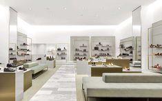 Burdifilek feature wall shoe store design, showroom design и clothing store Showroom Design, Shop Interior Design, Retail Design, Interior Ideas, Design Garage, Shop Front Design, Bar Design, Display Design, Design Ideas