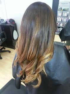 Fall 2013 hair.. #ombree #brunette #bronde