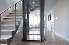 Visi 48 Glass Elevator by Nationwide Lifts - contemporary - Staircase - Boston - Nationwide Lifts of Mass Stair Elevator, Elevator Design, Glass Elevator, Mansion Interior, House Elevation, Elegant Homes, Contemporary, Modern, Beautiful Homes