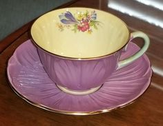 SHELLEY PURPLE Oleander Cup And Saucer - CAD $24.99. Up for auction is a Shelley cup and saucer in a purple color. Mint condition Happy Bidding 123024233629