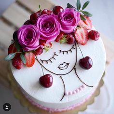 Latest Snap Shots fruit cake design Tips - yummy cake recipes Fancy Cakes, Cute Cakes, Pretty Cakes, Beautiful Cakes, Amazing Cakes, Food Cakes, Cupcake Cakes, Bolos Naked Cake, Decoration Patisserie