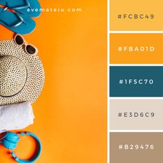 20 Summer Color Palettes and Hex Codes – Ave Mateiu palette design 20 Summer Color Palettes and Hex Codes Summer Color Palettes, Orange Color Palettes, Color Schemes Colour Palettes, Colour Pallette, Summer Colors, Color Combos, Orange Color Schemes, Orange Color Code, Orange Palette