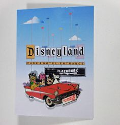 Disneyland CAST FLASHBACK 2005 LE Mickey, Minnie, Pluto in Convertible, on Card #Disney