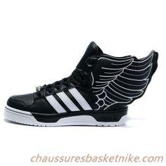 on sale 419af 4788e Jeremy Scott Wings Adidas JS Wings II Hommes et Femmes Chaussures Noir  Blanc Adidas Wing Shoes