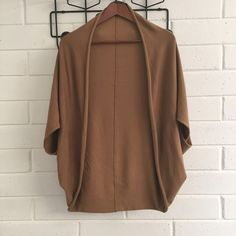Zara Camel Bolero Knit Great wrap for over dresses / to keep your shoulders warm. Lightweight knit. Zara Sweaters Shrugs & Ponchos