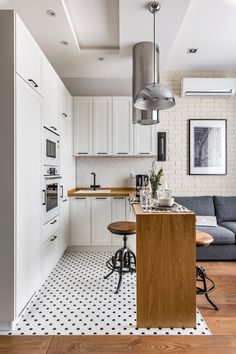 If you are looking for Apartment Kitchen Design Ideas, You come to the right place. Below are the Apartment Kitchen Design Ideas. This post about Apartment . Interior Design Examples, Interior Design Kitchen, Modern Interior, Country Interior, Flat Interior Design, Small Space Interior Design, Small Apartment Design, Small Apartments, Apartment Ideas