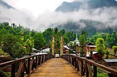 Sharda Bridge on River Neelum in Neelum Valley #Pakistan