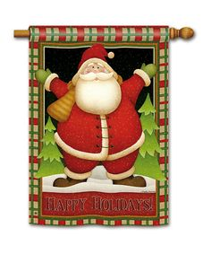 Take a look at this Plaid Santa Flag on zulily today!