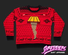 Leg Lamp Knit Christmas Sweater/ I love this like a fat kid loves cake!!!