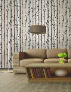 tapete birkenwald wanddeko zum ausdrucken und selbermachen pinterest birkenwald. Black Bedroom Furniture Sets. Home Design Ideas