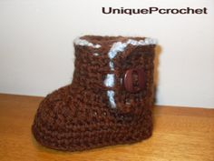Furry Baby booties crochet patternPDF by UniquePcrochet on Etsy, $5.50