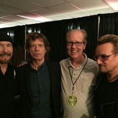 #TheEdge #MickJagger #JimHenke y #Bono la pasada noche en #Chicago #U2ieTour #U2 #U2ieCHI casi nada.. #rock #rollingstones #joy #bonojagger