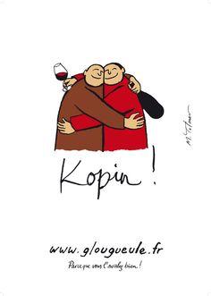 """Affiche """"Kopin"""": """"Parce que vous l'avalez bien!"""""""