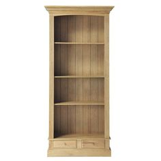 Biblioteca de roble macizo An. 105 cm