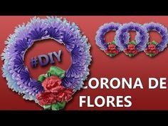 MANUALIDADES | Cómo hacer una CORONA DE FLORES para este DIA DE MUERTOS - YouTube