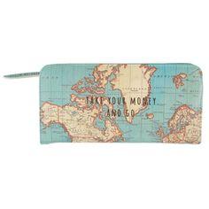 Portemonnee met vintage wereldkaart | Sass & Belle