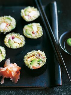 Quinoa Sushi With Chilli Tofu And Avocado | Donna Hay