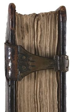Jacob the Illuminator, clasp hasp detail. Early 16th century English binding. Folger Shakespeare Library