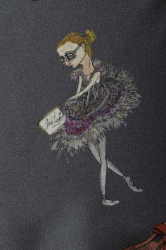 Geeky ballerina scarf