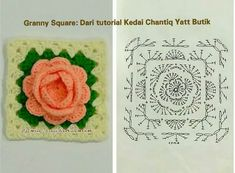 Rose granny square