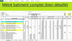 """Télécharger gratuitement un excellent exemple concret de """" Métré bâtiment complet (bien détaillé) """". Nous vous offrons aujourd'hui un excellent exemple concret de métré d'un bâtiment complet, un métré bien détaillé avec temps unitaire. C'est un document de calcul métré batiment en excel."""