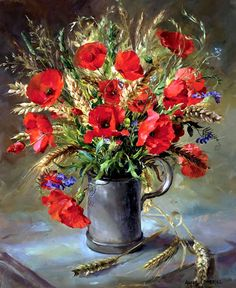 Anne Cotterill (1933-2010) –– Poppies in a Gill Measure  (654x800)