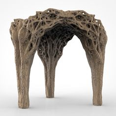 Daniel Widrig uses DIY 3D printing process to produce pixellated stool #furniture