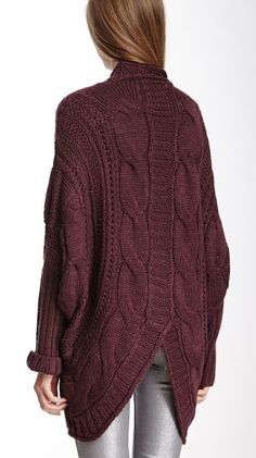 NEW HauteLook | Cliche Sweaters: Cliche Open Cable Knit Cardigan