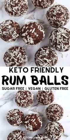 Best ever dairy free rum balls recipe. These gluten free rum balls and so delicious and easy to make. Try low carb, keto & vegan rum balls today for a healthy Christmas treat that everyone will love! Healthy Christmas Treats, Vegan Christmas Cookies, Christmas Baking, Dairy Free Christmas Recipes, Vegan Christmas Desserts, Christmas Cheesecake, No Dairy Recipes, Keto Recipes, Healthy Recipes
