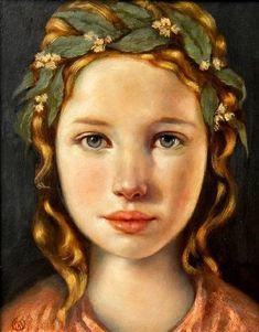 """€œLaura,""€ one of Ken Hamilton's miniature portraits is said to be the unattainable muse of 14th century Italian poet Francesco Petrarch."