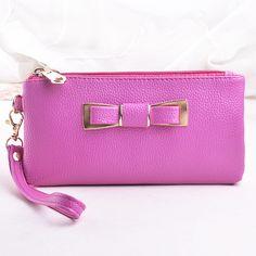 60dcef7273 Women Bow Leather Wristlet - Gorgeous Looking Wallet · Womens PursesKeysCoin  ...