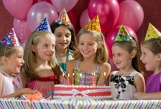 A little girl celebrates the occasion of her birthday.