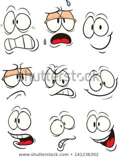 Cartoon faces with different expressions. Vector clip art illustration with simple gradients. All in a single layer. Cartoon faces with different expressions. Vector clip art illustration with simple gradients. All in a single layer. Art And Illustration, Free Illustrations, Character Illustration, Cartoon Eyes, Cartoon Clip, Angry Cartoon, Cartoon Smile, Girl Cartoon, Art Pierre