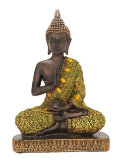 Promote Peace In Your Sweet Home By Adorning This Polystone Buddha Figurine On Your Centre Table. You Can Be Rest Assured About Its Longevity Due To Its Quality Built. This Buddha Figurine Is Crafted Buddha Decor, Buddha Art, Buddha Life, Sitting Buddha, Gautama Buddha, Luxury Home Decor, Decorative Objects, Home Accents, Canvas Prints