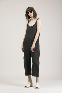 Gary Jumpsuit, Faded Black by Ilana Kohn #kickpleat #ilanakohn