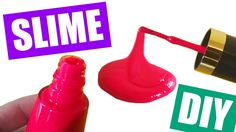 How to Make Slime with Nail Polish Without Glue Nail Polish Slime DIY by...