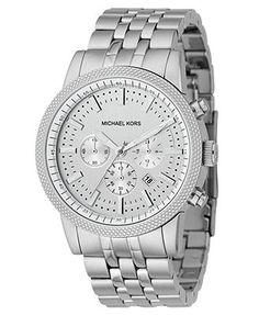 Michael Kors Watch, Men's Chronograph Scout Stainless Steel Bracelet 43mm MK8072