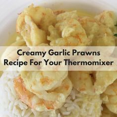 Creamy Garlic Prawns - Recipe For Your Thermomix Garlic Prawn Sauce, Creamy Garlic Prawn Pasta, Creamy Garlic Sauce, Prawn Recipes, Fish Recipes, Seafood Recipes, Savoury Recipes, Garlic Recipes, Recipes Dinner