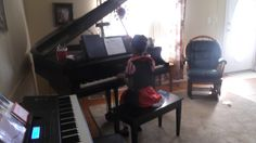 One of our students performing on the piano at the Fall Fun Piano Party