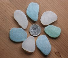 Very Large Genuine Sea Glass Bulk Lot, Jewelry Quality Extra Large Sea Glass, Aqua Blue, Sea Foam Green and White Beach Glass by KominkaStudio on Etsy