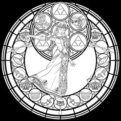 Stained-Glass-Zelda-coloring-page