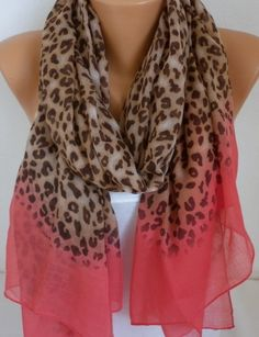 LOVE the chambray leopard!  #scarf #scarves #leopard