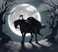 legend of sleepy hollow, Happy Halloween Happy Halloween, Halloween Horror, Halloween Art, Vintage Halloween, Halloween Stuff, Halloween Sayings, Halloween Bedroom, Halloween Rocks, Halloween Garland