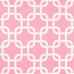 Gotcha Baby Pink/White by Premier Prints - Drapery Fabric - Drapery Fabrics at Buy Fabrics